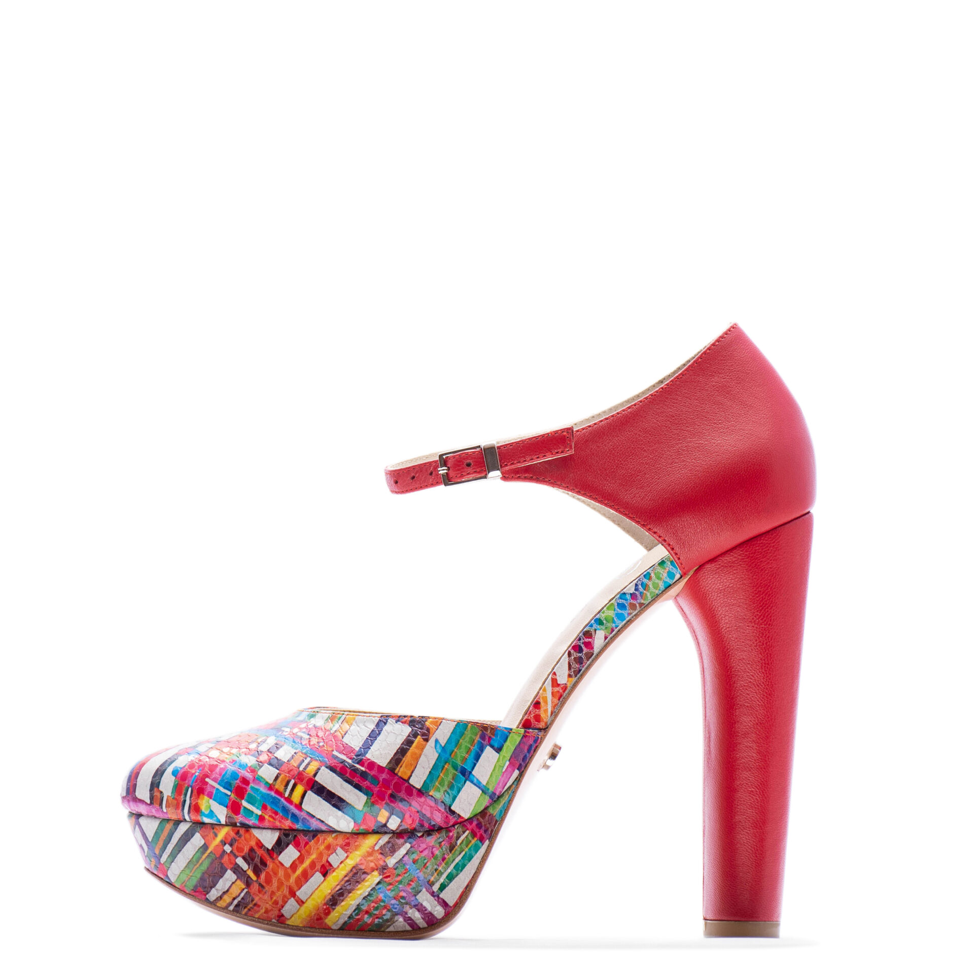 multi color chunky heel for bride and bridesmaids