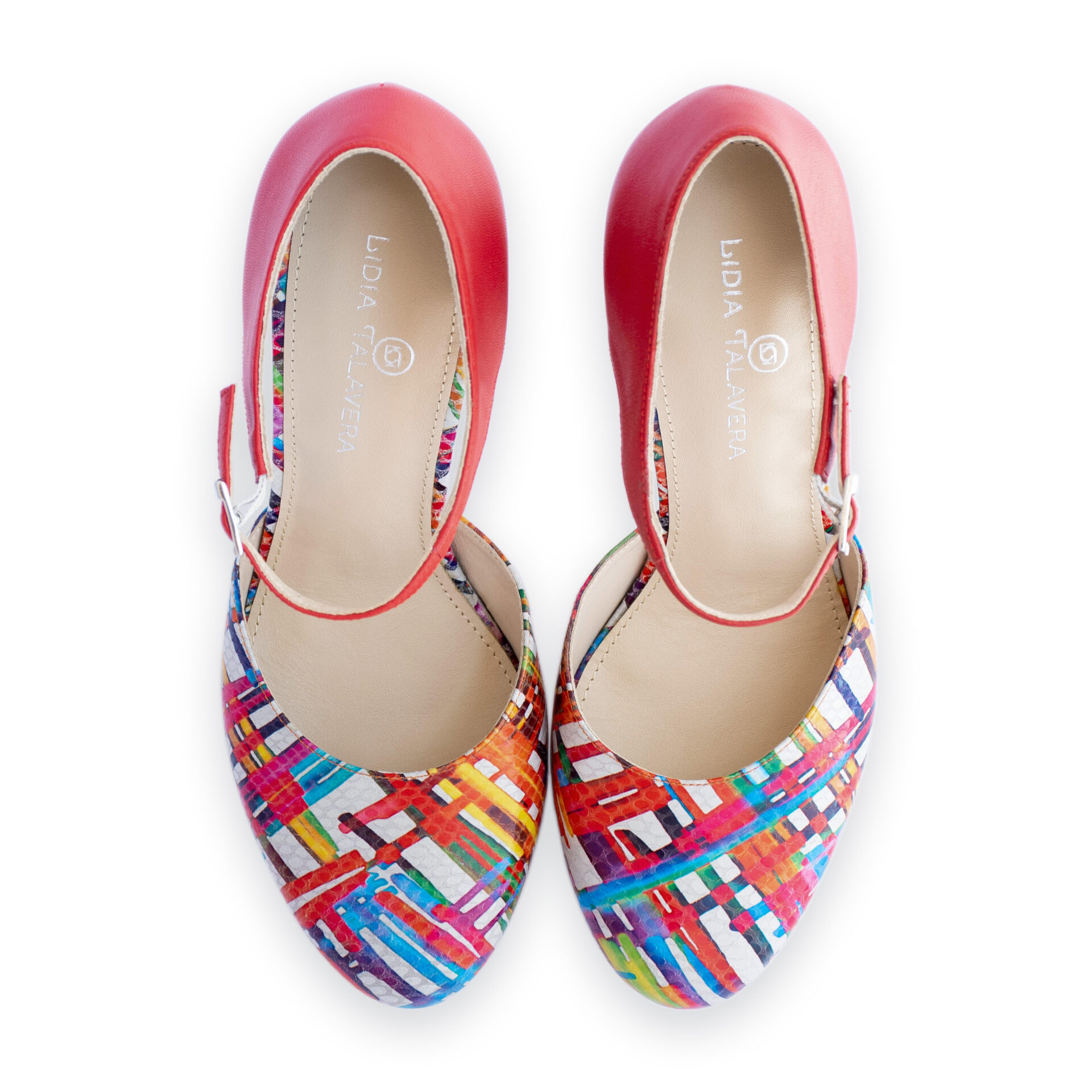 multi color chunky heels for men and women