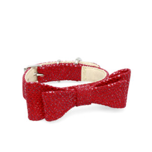red bow collar