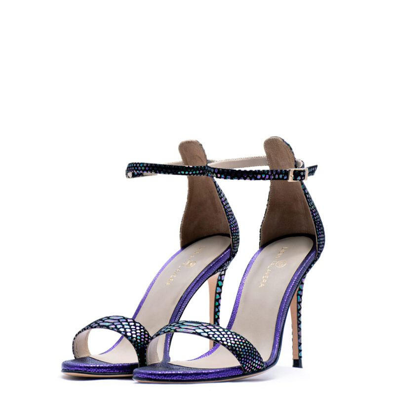 purple and green heels for men and women
