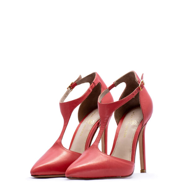 red ankle strap heels for men and women