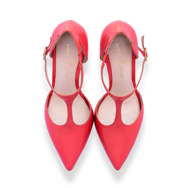 red pointed toes heels for men and women