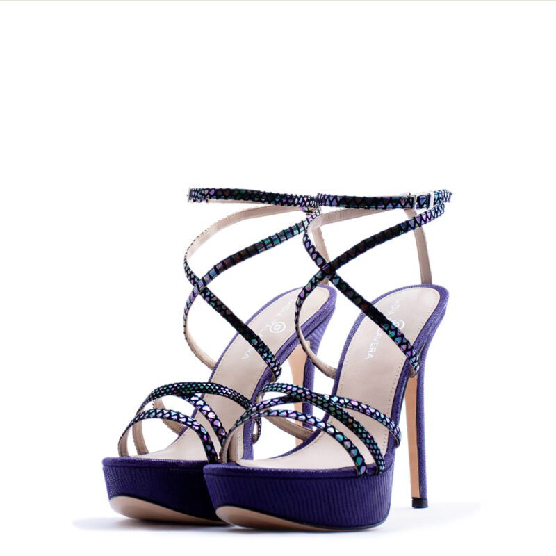Purple Strappy Sandal heels for men and women