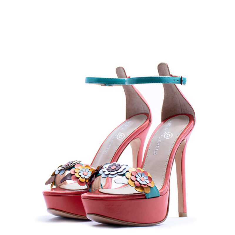platform sandal with flowers heels for men and women