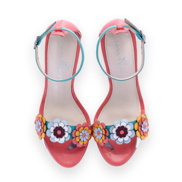 heels with flowers for men and women