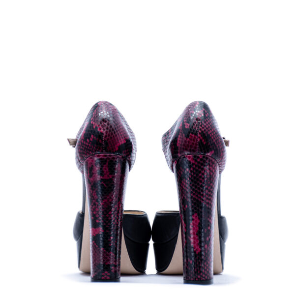 black and pink heels for men and women