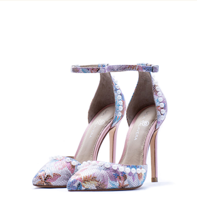 floral pink heels for men and women