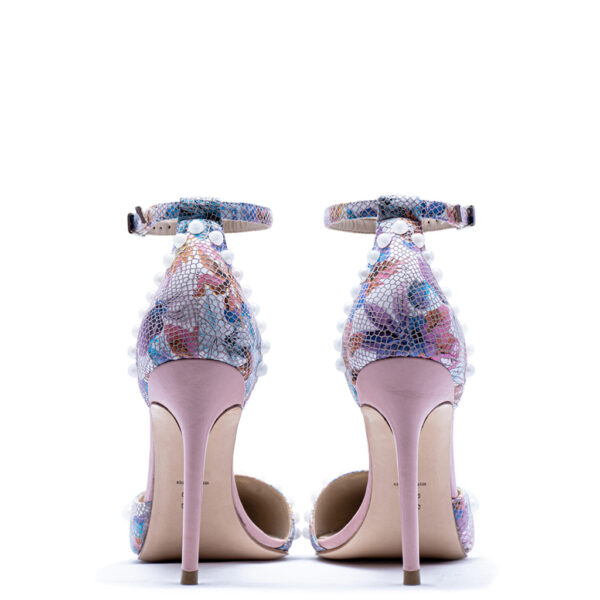 pink floral heels for men and women