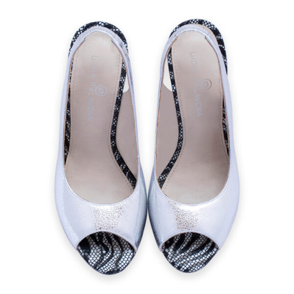 silver heels for men and women