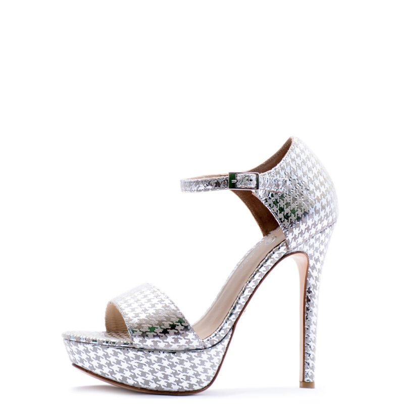 silver ankle strap heels for men and women