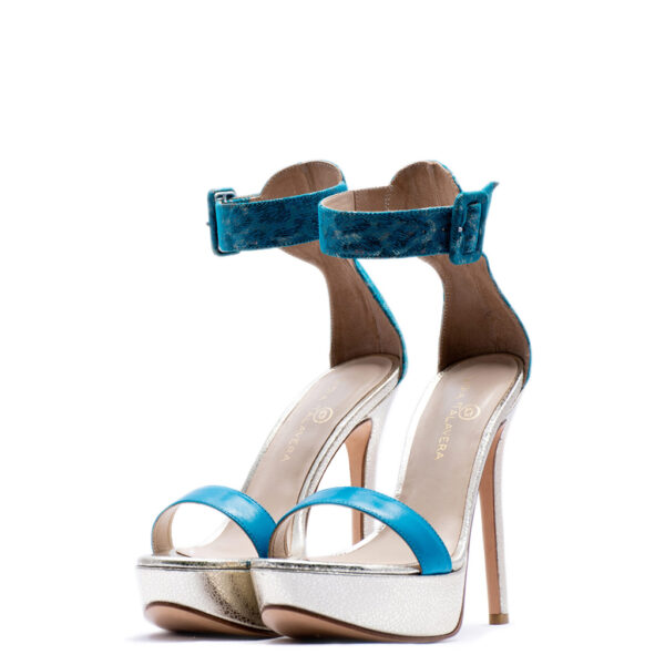 blue and silver heels for men and women