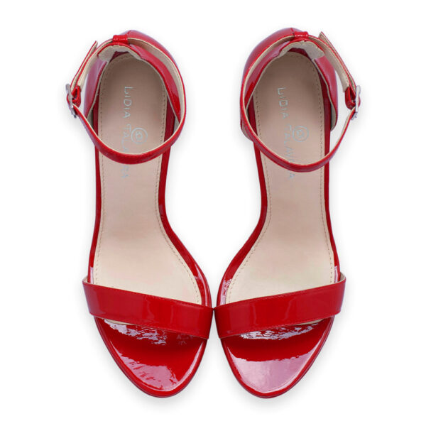 red strappy sandal heels for men and women
