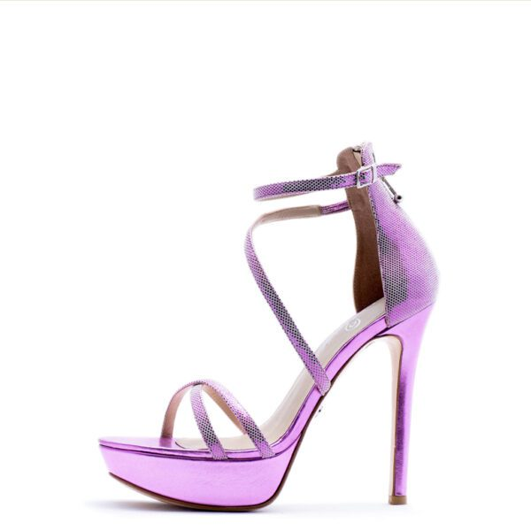pink strappy heels for men and women