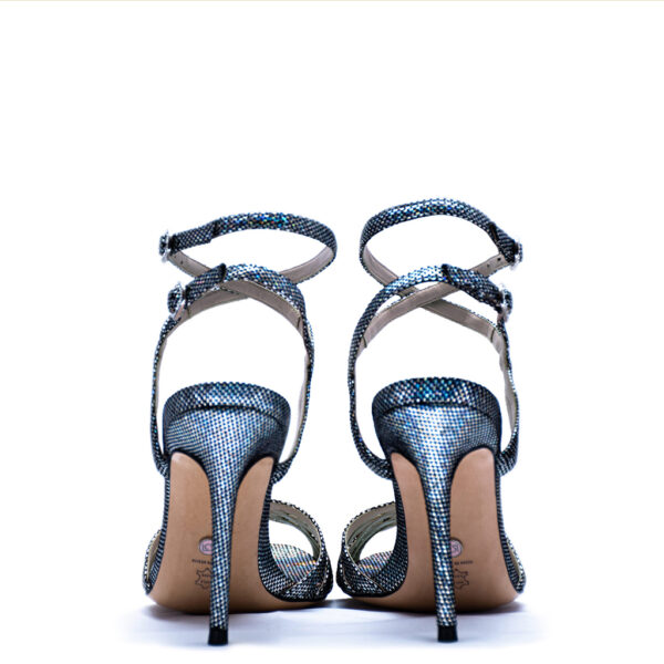 blue strappy heels for men and women