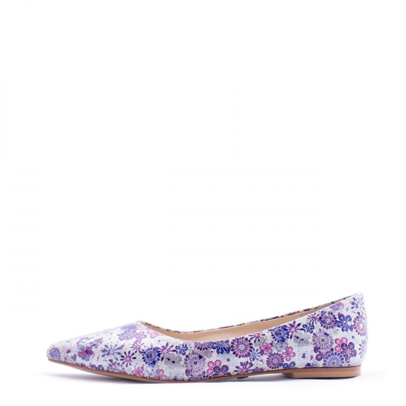 purple pointed flats heels for men and women