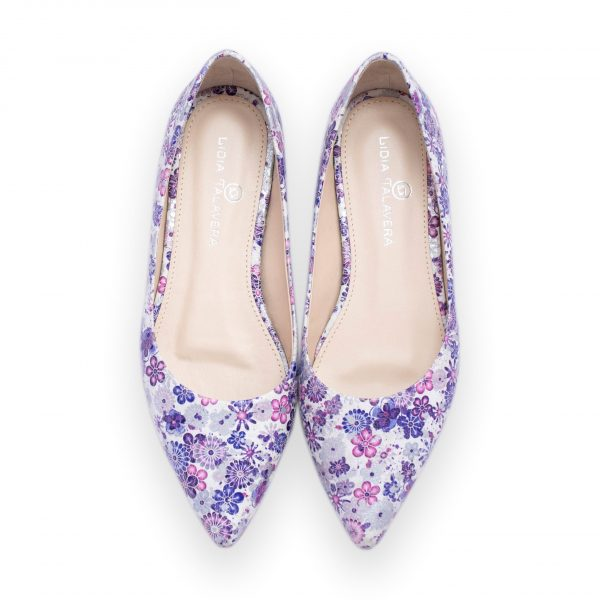 purple and pink flats heels for men and women