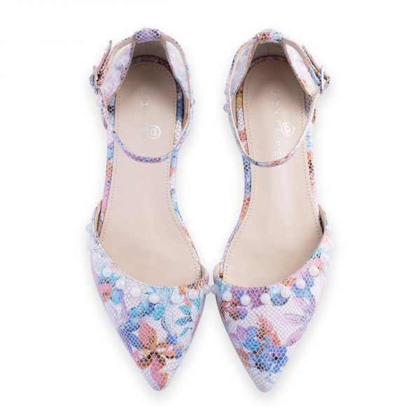 pink and purple flats heels for men and women