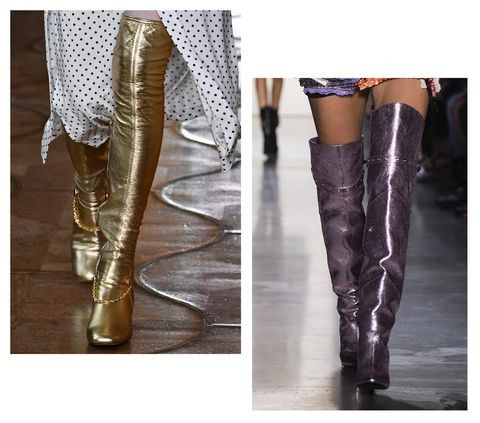 More Shoe Trends For Next Year Metallic Boots