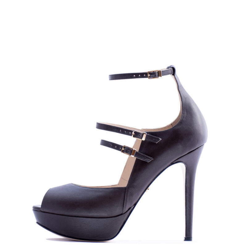 strappy brown heels for men and women