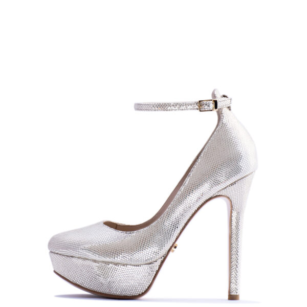 silver high heels for men and women