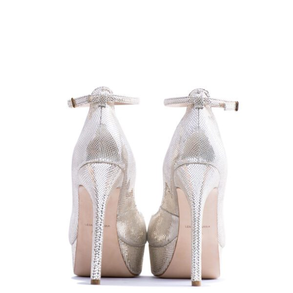 silver strappy heels for men and women