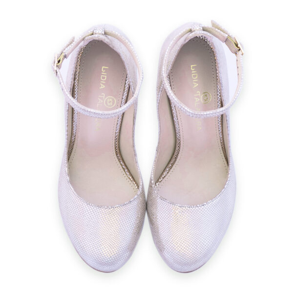 silver platforms with strap heels for men and women
