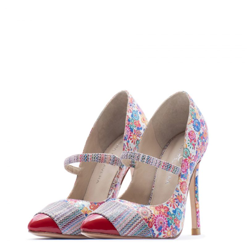 Floral pump heels for men and women