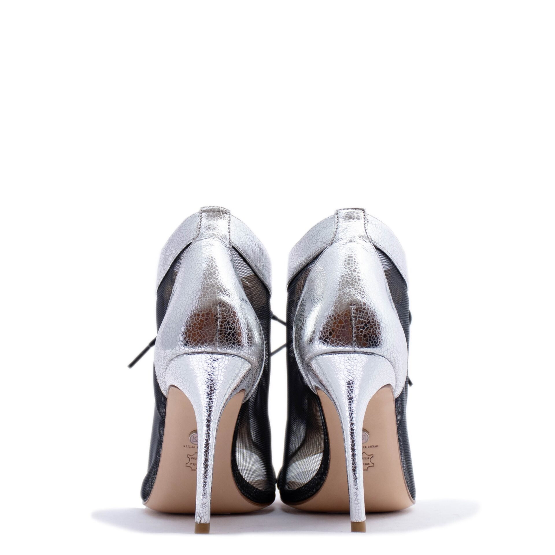 silver ankle bootie bridal shoes