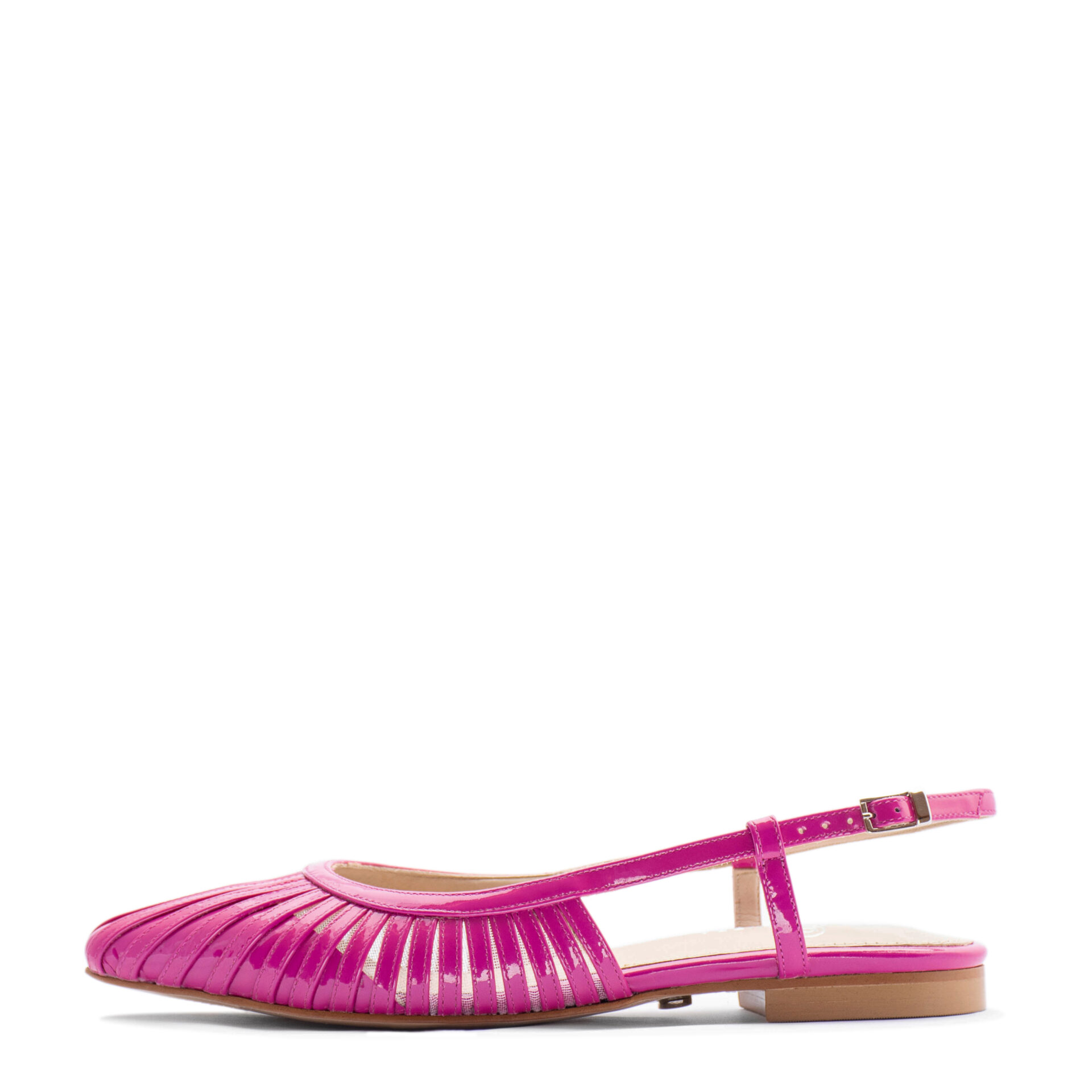 pink pointed toe flat bridesmaids shoes
