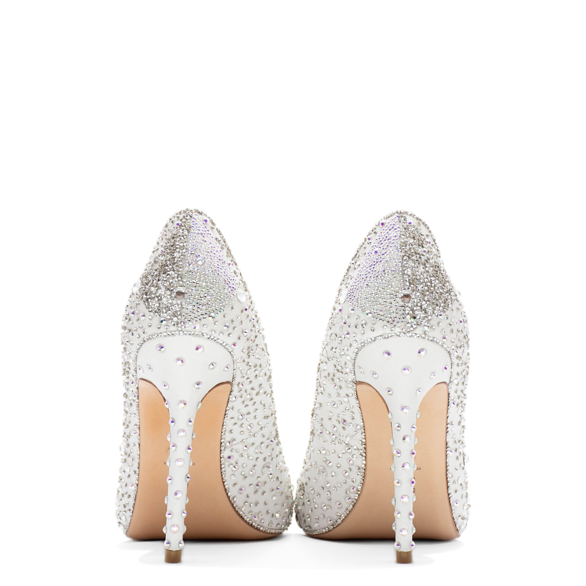 high heels with crystals