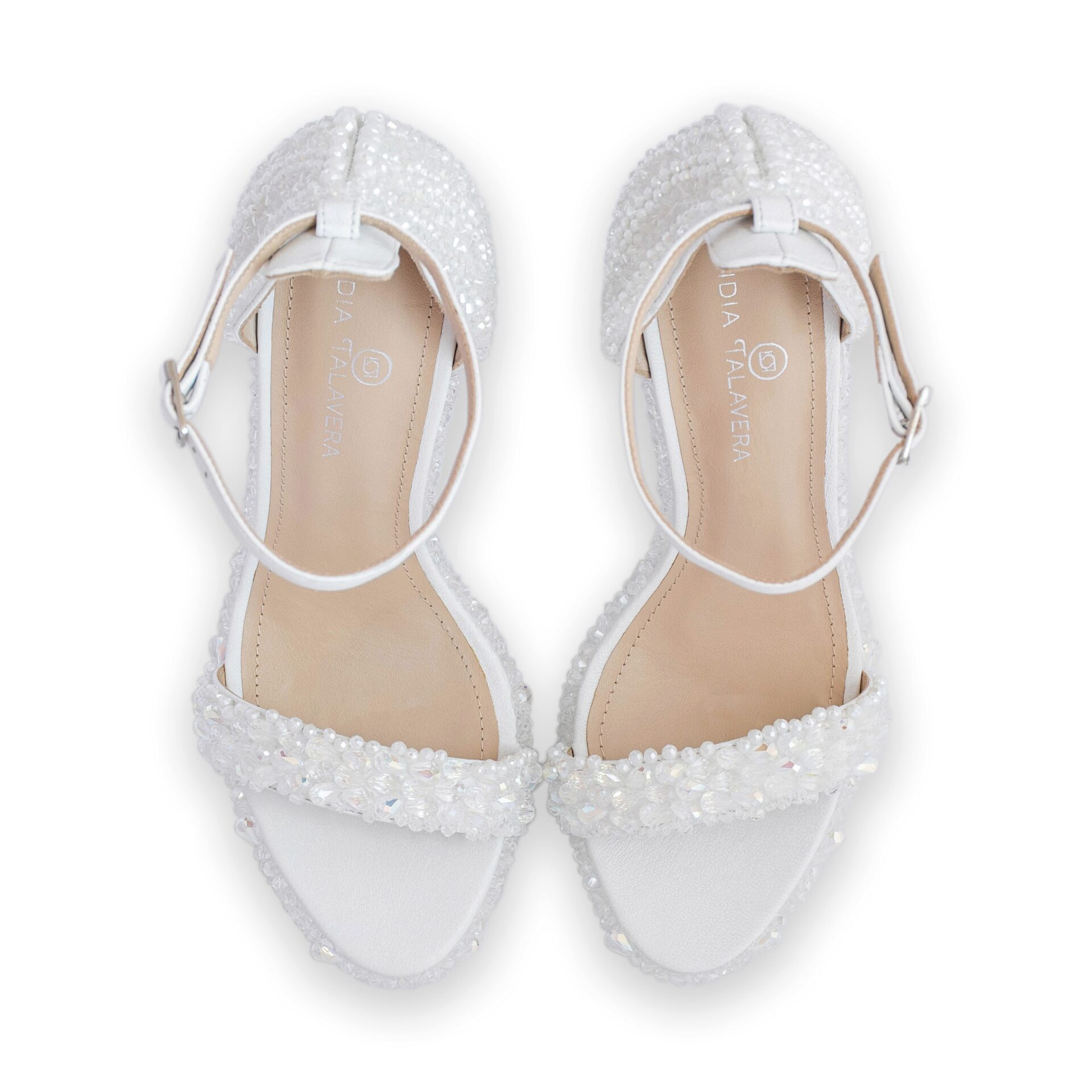 wedding strappy sandals with crystals