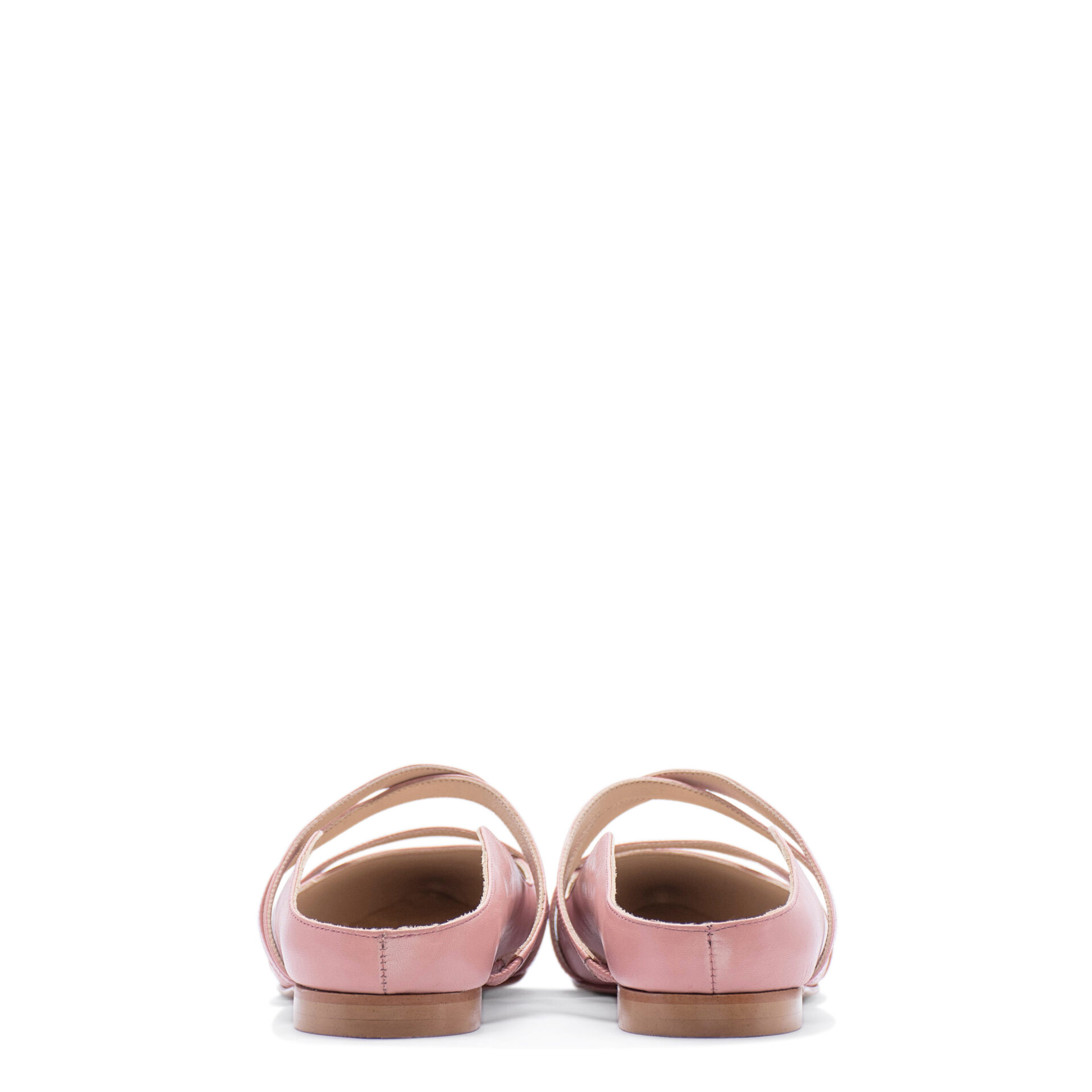pink pointed-toe bridal flat shoes