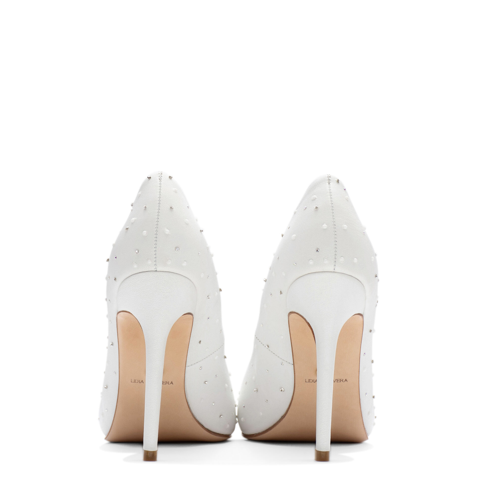 luxury Pointed-toe shoes with pearls & crystals